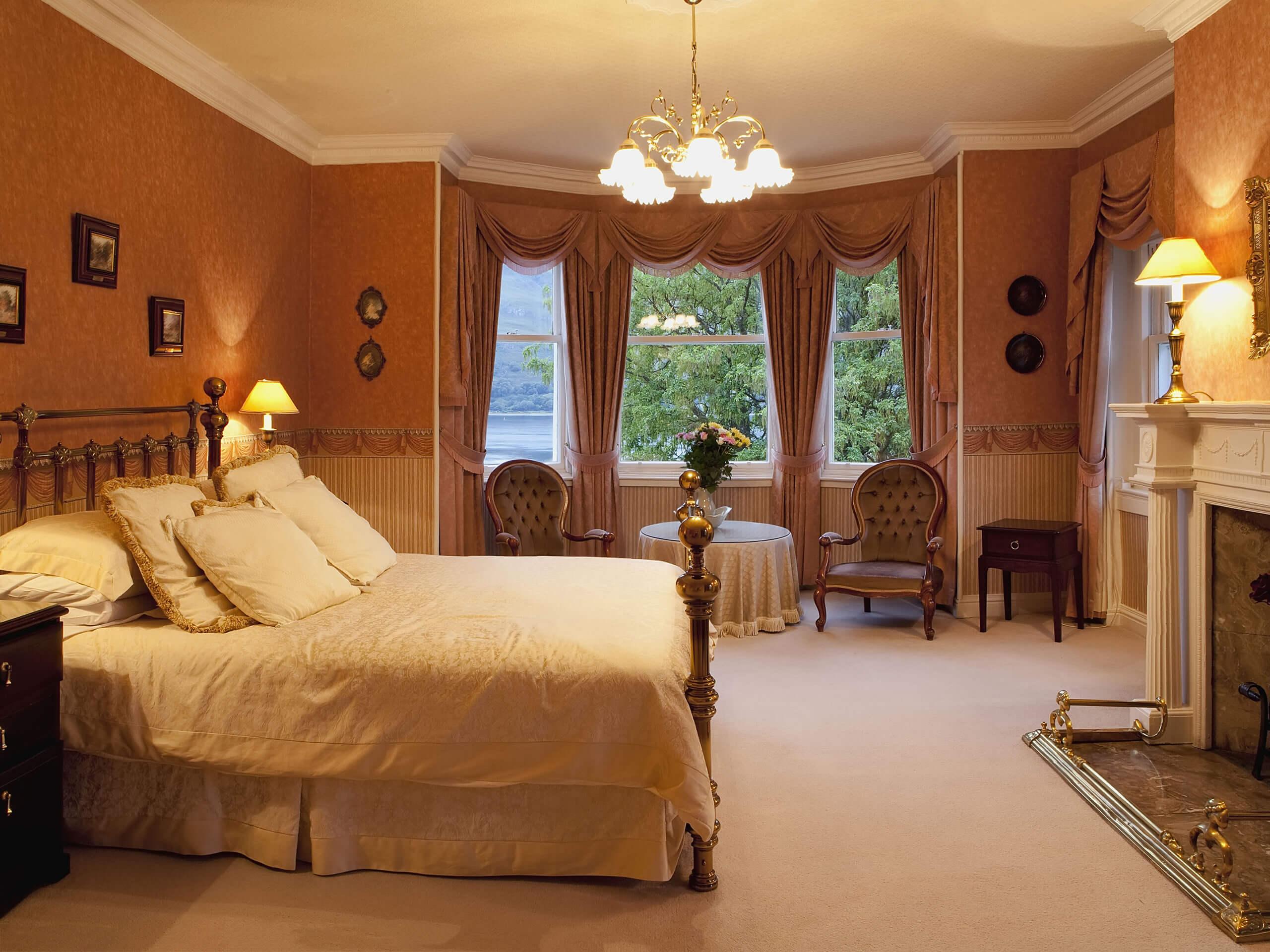 Farbliche Raumgestaltung Schlafzimmer Bettwsche 180x220